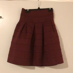 High waisted Anthropologie mini skirt